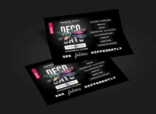 Leaflet invitație și program Deco Days 2017